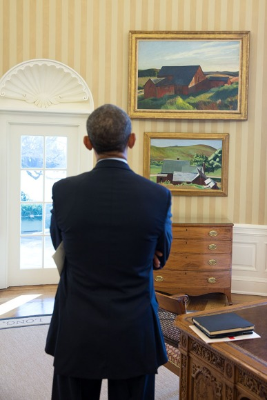 Hopper_paintings_in_the_Oval_Office