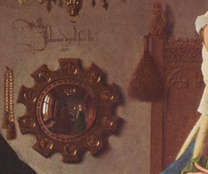 Arnolfini mirror detail