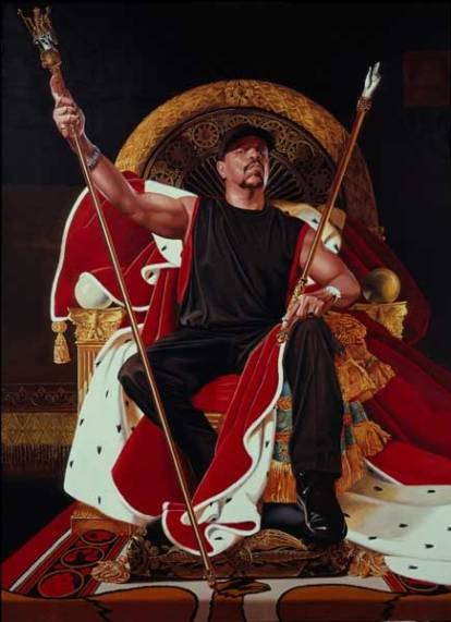 Ice T by Kehinde Wiley, 2005. Oil on canvas. Private collection, courtesy Rhona Hoffman Gallery. Copyright Kehinde Wiley