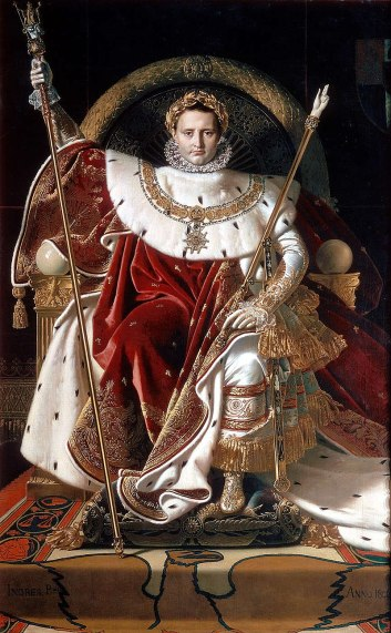 Napoleon on His Imperial Throne by Jean Auguste Dominique Ingres, 1806
