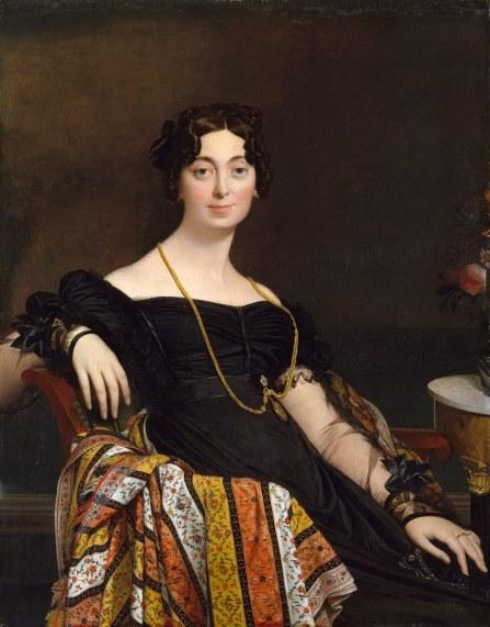 Madame Jacques Louis LeBlanc by Jean Auguste  Dominique Ingres 1823