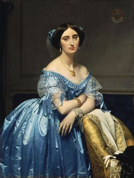 The Princesse de Broglie by Jean Auguste Dominique Ingres (1825–1860), The Met.
