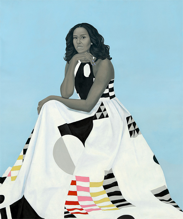 Portrait of Former First Lady Michelle Obama by Amy Sherald